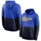 Men's Los Angeles Rams Blue Navy Sideline Impact Lockup Performance Pullover Hoodie