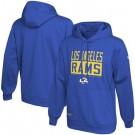 Men's Los Angeles Rams Blue School of Hard Knocks Pullover Hoodie