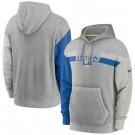 Men's Los Angeles Rams Gray Heathered Heritage Tri Blend Pullover Hoodie