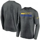 Men's Los Angeles Rams Gray Sideline Impact Legend Performance Long Sleeves T Shirt 616