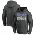 Men's Los Angeles Rams Heather Charcoal Stronger Together Printed Pullover Hoodie 0819