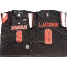 Men's Louisville Cardinals #8 Lamar Johnson Black College Football Jersey