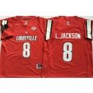 Men's Louisville Cardinals #8 Lamar Johnson Red College Football Jersey