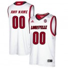 Men's Louisville Cardinals Customized White College Basketball Jersey