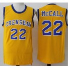 Men's Love and Basketball Crenshaw #22 Quincy Mcall Yellow Basketball Jersey