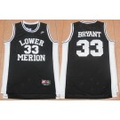 Men's Lower Merion High School #33 Kobe Bryant Black College Basketball Jersey