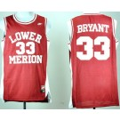 Men's Lower Merion High School #33 Kobe Bryant Red College Basketball Jersey