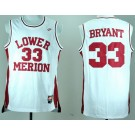 Men's Lower Merion High School #33 Kobe Bryant White College Basketball Jersey
