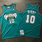 Men's Memphis Grizzlies #10 Mike Bibby Green 1998 Throwback Authentic Jersey
