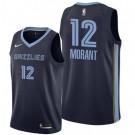 Men's Memphis Grizzlies #12 Ja Morant Navy Icon Hot Press Jersey