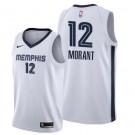 Men's Memphis Grizzlies #12 Ja Morant White Icon Hot Press Jersey