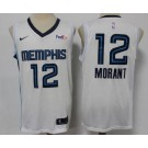 Men's Memphis Grizzlies #12 Ja Morant White Icon Sponsor Swingman Jersey