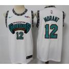 Men's Memphis Grizzlies #12 Ja Morant White Throwback Icon Sponsor Swingman Jersey