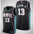 Men's Memphis Grizzlies #13 Jaren Jackson Jr Black Classic Icon Hot Press Jersey