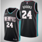 Men's Memphis Grizzlies #24 Dillon Brooks Black Classic Icon Hot Press Jersey