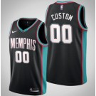 Men's Memphis Grizzlies Custom Black Classic Icon Hot Press Jersey