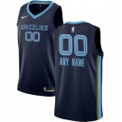 Men's Memphis Grizzlies Custom Navy Icon Hot Press Jersey