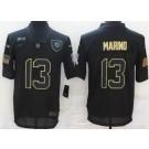 Men's Miami Dolphins #13 Dan Marino Limited Black 2020 Salute To Service Jersey