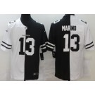 Men's Miami Dolphins #13 Dan Marino Limited Black White Split Jersey