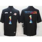 Men's Miami Dolphins #1 Tua Tagovailoa Limited Black Crucial Catch Vapor Untouchable Jersey