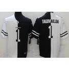 Men's Miami Dolphins #1 Tua Tagovailoa Limited Black White Split Jersey