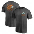 Men's Miami Dolphins Iconic Retro Diamond Scroll Printed T-Shirt 0739