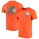 Men's Miami Dolphins Iconic Retro Diamond Scroll Printed T-Shirt 0885