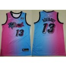 Men's Miami Heat #13 Edrice Adebayo Pink Blue 2021 City Icon Sponsor Swingman Jersey