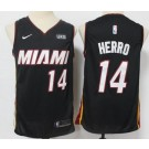 Men's Miami Heat #14 Tyler Herro Black 2021 Icon Sponsor Swingman Jersey