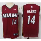 Men's Miami Heat #14 Tyler Herro Red 2021 Icon Sponsor Swingman Jersey