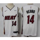 Men's Miami Heat #14 Tyler Herro White 2021 Icon Sponsor Swingman Jersey