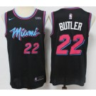 Men's Miami Heat #22 Jimmy Butler Black 2021 City Icon Sponsor Swingman Jersey