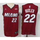 Men's Miami Heat #22 Jimmy Butler Red 2021 Icon Sponsor Swingman Jersey