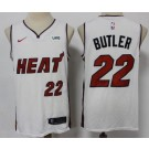 Men's Miami Heat #22 Jimmy Butler White 2021 Icon Sponsor Swingman Jersey