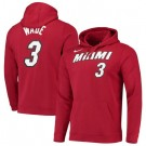 Men's Miami Heat #3 Dwyane Wade Red Printed Hoodie 201107