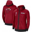 Men's Miami Heat Red Showtime Performance Full Zip Hoodie Jacket