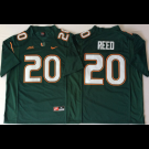 Men's Miami Hurricanes #20 Ed Reed Green 2018 College Football Jersey