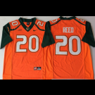 Men's Miami Hurricanes #20 Ed Reed Yellow 2018 College Football Jersey