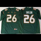 Men's Miami Hurricanes #26 Sean Taylor Green 2018 College Football Jersey
