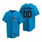 Men's Miami Marlins Customized Blue Alternate 2020 Cool Base Jersey
