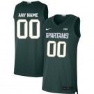 Men's Michigan State Spartans Customized Green 2019 College Basketball Jersey