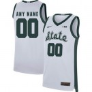 Men's Michigan State Spartans Customized White 2019 College Basketball Jersey