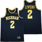 Men's Michigan Wolverines #2 Isaiah Livers Navy College Basketball Jersey