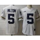 Men's Michigan Wolverines #5 Joe MIlton White College Football Jersey