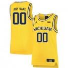 Men's Michigan Wolverines Customized Yellow 2019 College Basketball Jersey