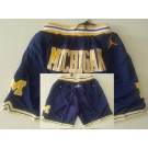 Men's Michigan Wolverines Navy Just Don College Basketball Shorts