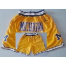 Men's Michigan Wolverines Yellow Just Don College Basketball Shorts