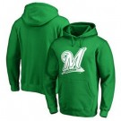 Men's Milwaukee Brewers Green Printed Pullover Hoodie