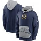 Men's Milwaukee Brewers Navy Heritage Tri Blend Pullover Hoodie