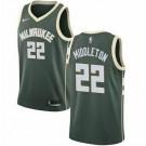 Men's Milwaukee Bucks #22 Khris Middleton Green Icon Hot Press Jersey